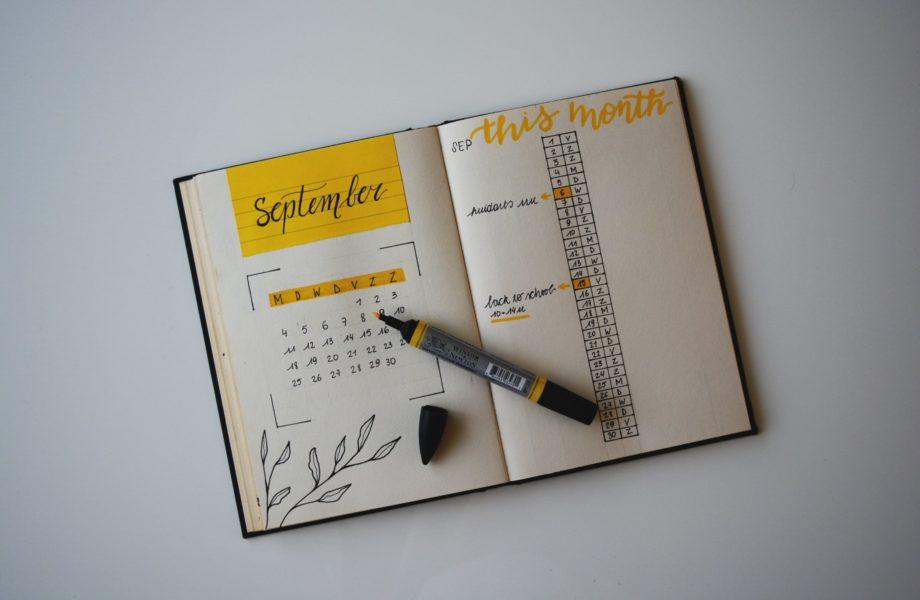 Um calendário físico